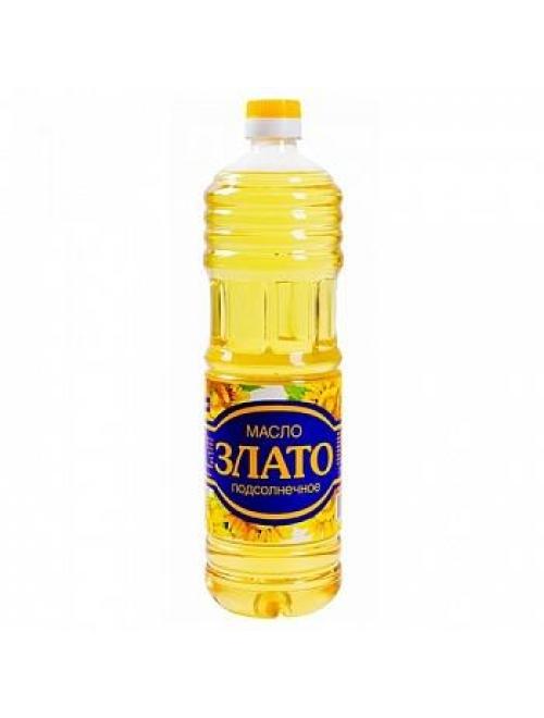 """Масло """"Злато"""" раф. 1 л. 1/12 шт"""